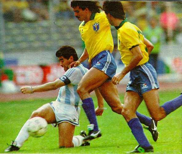 Italia '90: a Torino Argentina contro Brasile (Maradona vs Careca)