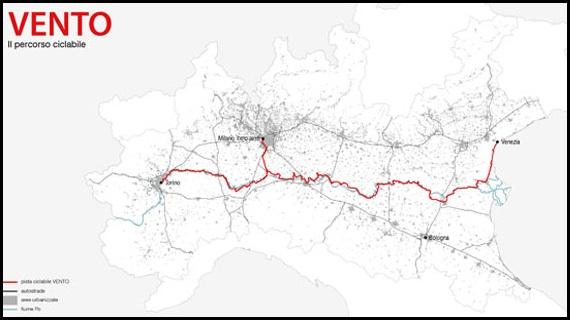VenTo: la pista ciclabile che unisce Venezia a Torino