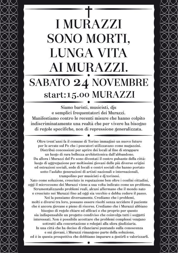 Torino Murazzi funerali 24/11/2012
