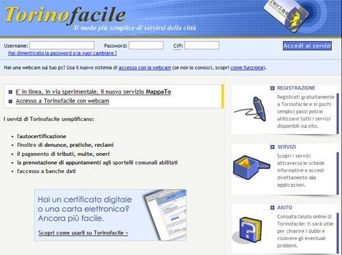 Servizio Torino Facile Comune Torino