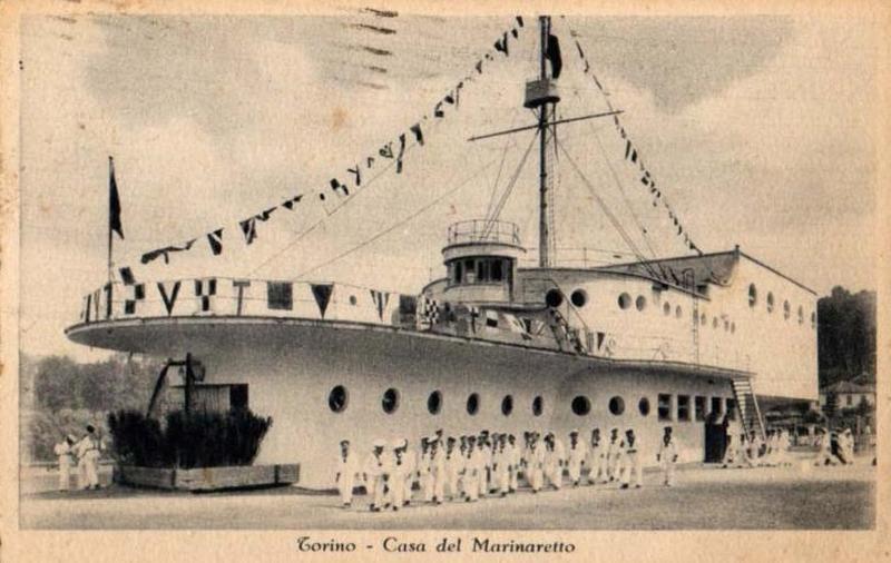 Nave di cemento Torino, sede marinaretti fascisti