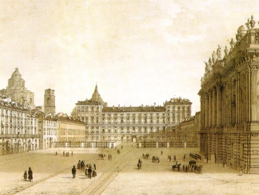 Piazza Castello e il trasloco della statua equestre