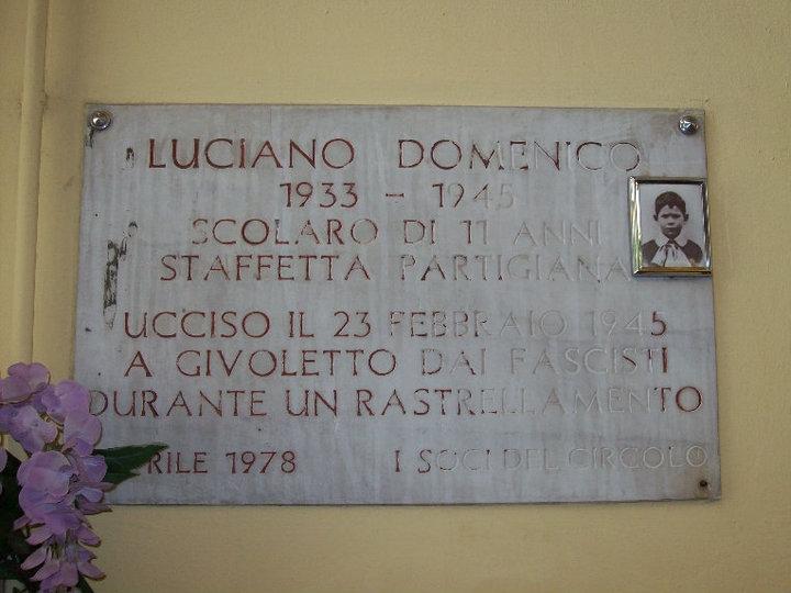 Partigiano Luciano Domenico undici Torino