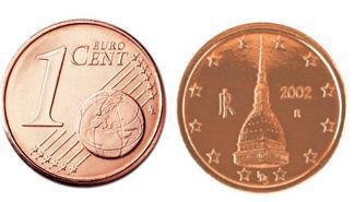 centesimo di euro con dietro Mole