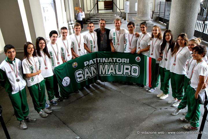 pattinatori San Mauro campioni Italia 2013