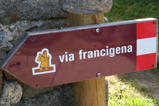 Via Francigena Torino Italia Francia
