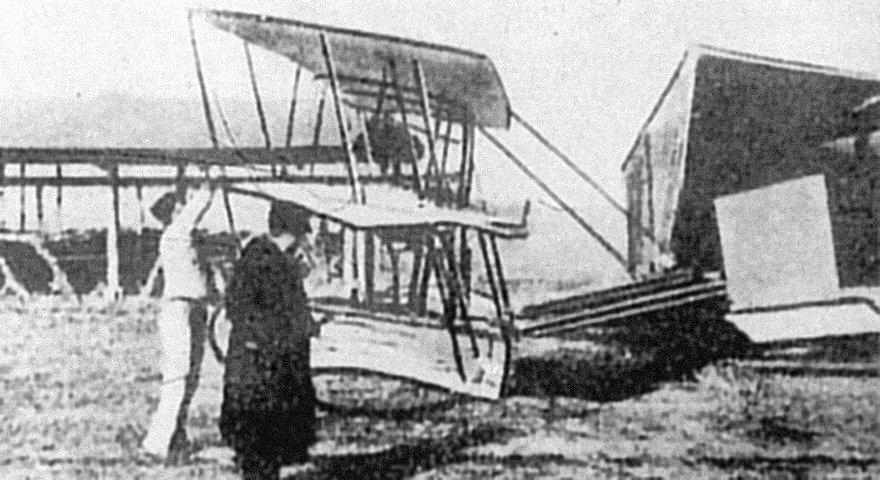 13 gennaio 1909, in Piazza D'Armi decollava il primo aereo italiano