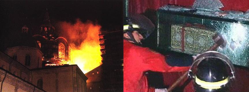 11 aprile 1997: incendio Duomo Torino minaccia la Sacra Sindone