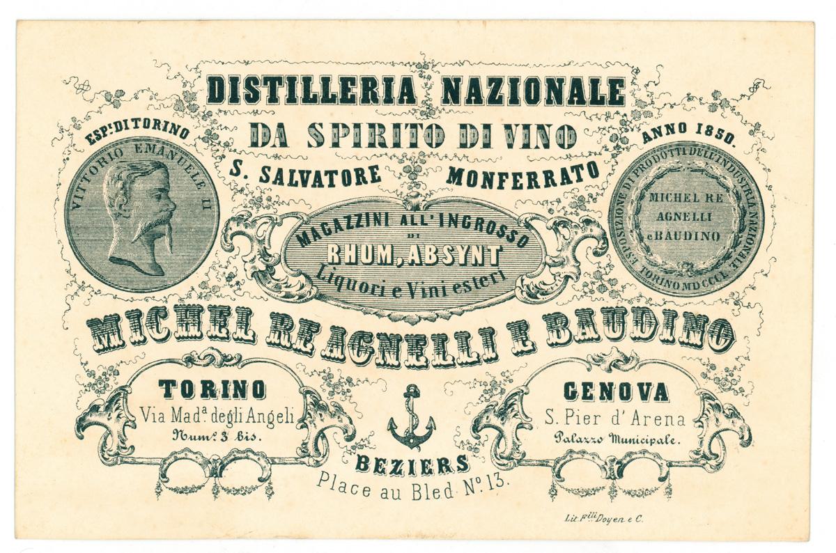 1° luglio 1847: a Torino nasce la distilleria Martini & Rossi