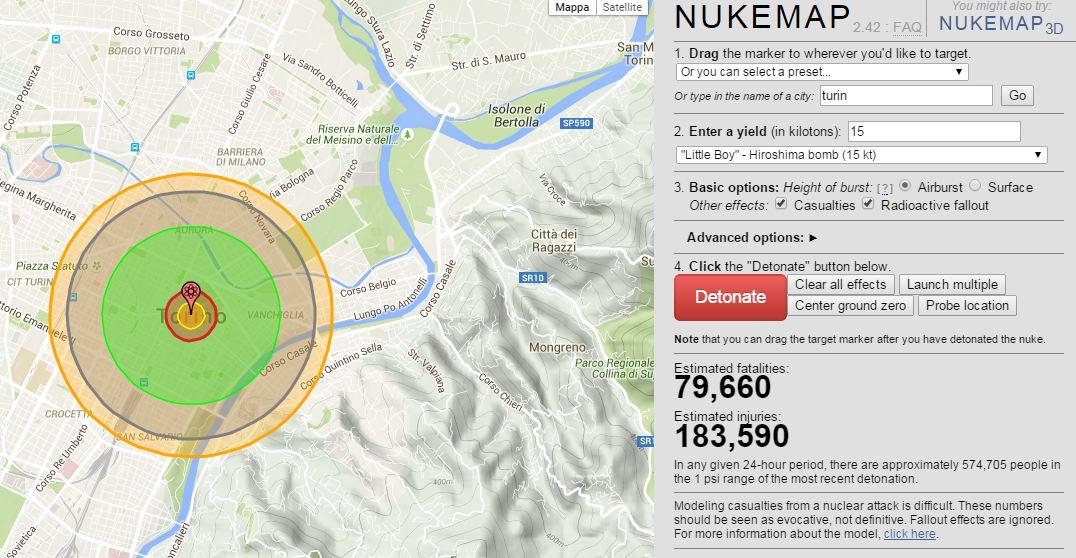 Un 'atomica su Torino, ecco cosa accadrebbe