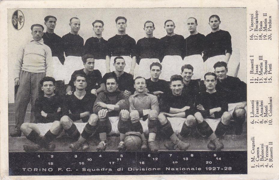 il Torino del primo scudetto, 1927/28