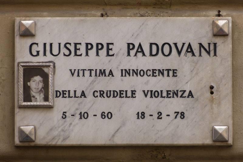 Torino, 18 febbraio 1978: Giuseppe Padovani «vittima innocente della crudele violenza»