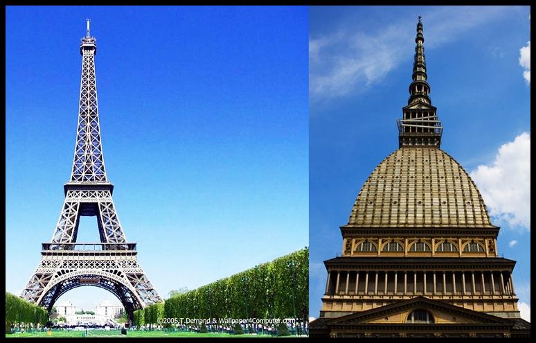 Parigi/Torino, Eiffel/Antonelli Torre/Mole: due simboli coetanei!