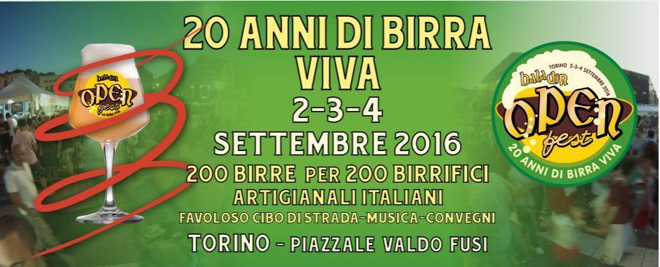 A Torino l'Open Baladin Fest, birra artigianale dal 2 al 4 settembre
