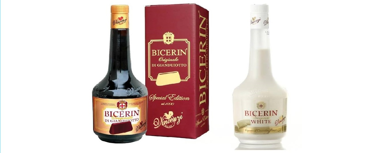 bicerin gianduiotto e white distillerie vincenzi
