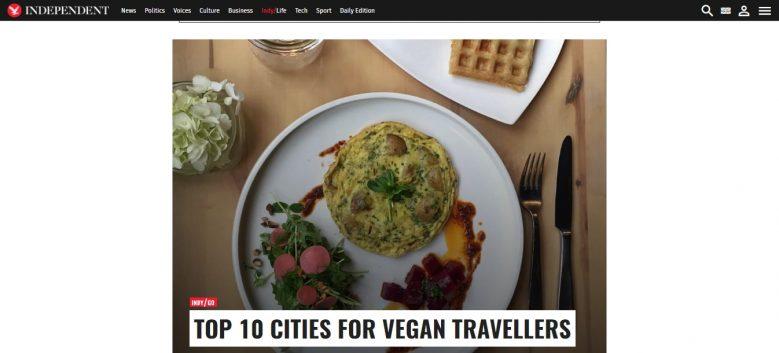 Torino, l'Independent la inserisce tra le 10 città ideali per vegani