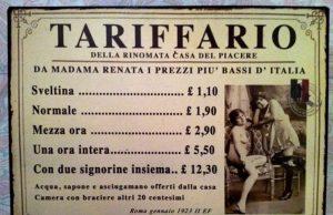 1 aprile 1860: l'approvata la legge che regolamenta la prostituzione in Piemonte